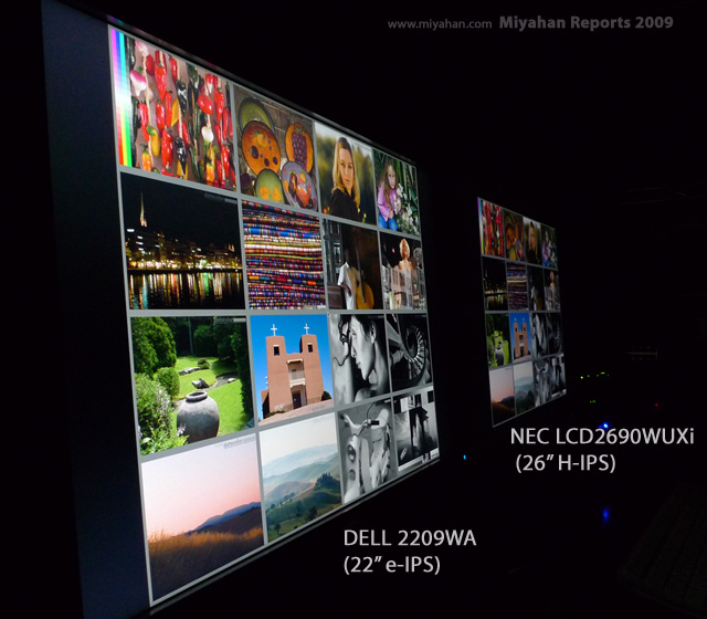 DELL 2209WA e-IPS・ NEC LCD2690WUXi H-IPS 視野角比較