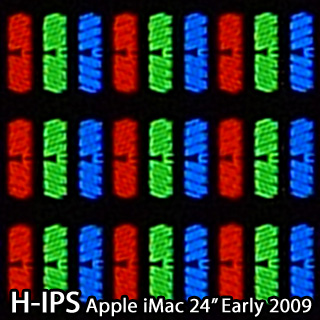 H-IPS pixel shape (Apple iMac 24 inch Early 2009)